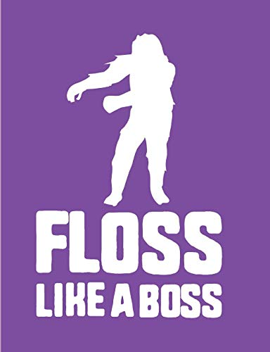 Floss Like A Boss: Purple Bigfoot Wide Ruled Composition Notebook