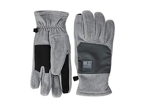 Under Armour Men's ColdGear Infrared Fleece Glove, Steel//Pitch Gray, Medium (Under Armour Touch Screen Gloves)