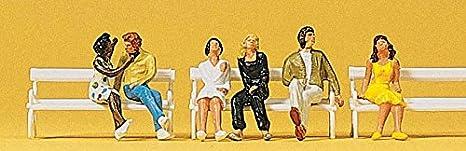 : Paare sitzend 14138 Figuren Preiser H0