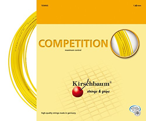 Kirschbaum Set Competition Tennis String, 1.25mm/17-Gauge, Yellow
