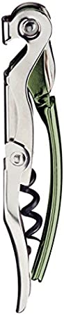 Long-Lever - Ais-Pro - Sacacorchos cromado - Producto oficial de la Asociación italiana de Sumilleres - Color verde