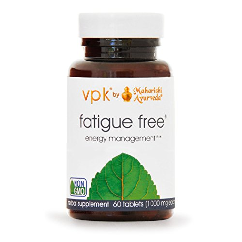 Fatigue Free | 60 Herbal Tablets - 1000 mg ea. | Powerful Energy Tonic with Ashwagandha & Zinc | Combats Fatigue | Builds Natural Growth of New Cells