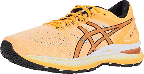 ASICS Men's Gel-Nimbus 22 Running Shoes, 10.5M, Orange POP/Black