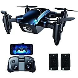 BOJIANG Mini FPV WiFi Drone with 720P HD Camera, App/Gesture/Voice Control with Altitude Hold 3D Flips and Headless Mode for Kids and Adults