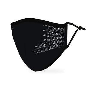 Weddingstar Masque en tissu lavable Tissu de protection réutilisable et réglable Couvercle avec poche pour filtre à…