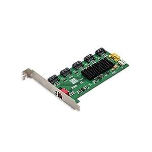 Syba SY-PCI40037 - Multiplicador de puertos internos SATA I/II (5 puertos)
