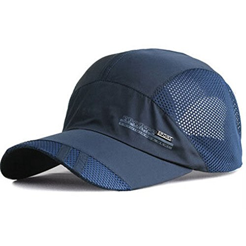 YING LAN Summer Autumn Men Women Outdoor Sport Baseball Hat Running Visor Sun Cap Navy ()