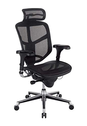 WorkPro Quantum 9000 Ergonomic Mesh/Nylon Executive High-Back Chair with Headrest