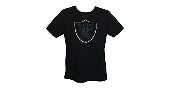 Amazon.com   Oakland Raiders Youth Size Large (14 16) Shirt NFL 50th  Anniversary Edition Gold Foil Trim Team Logo - Black   Sports   Outdoors e7bc426fc