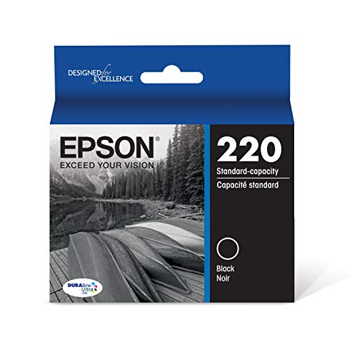 Epson T220120 DURABrite Ultra Black Standard Capacity Cartridge Ink (WF-2760, WF-2750, WF-2660, WF-2650, WF-2630, XP-424, XP-420, XP-320) ()