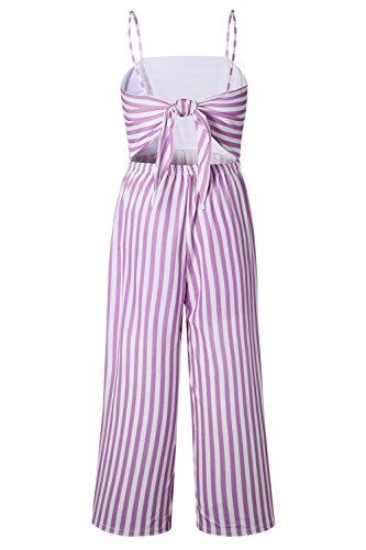 17b638a7542d Alelly Women s Summer Jumpsuits Striped Tie Back Sleeveless Backless ...