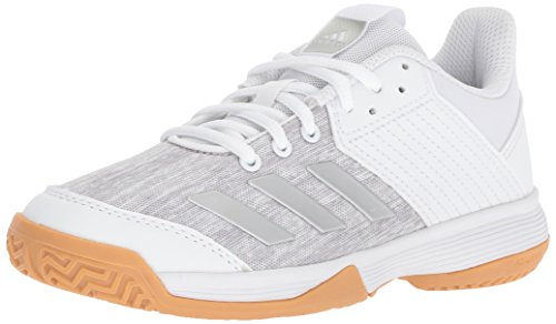 top fashion d054f 2f76f Adidas Unisex Ligra 6 Volleyball Shoe, White Silver Metallic Grey, 5 M