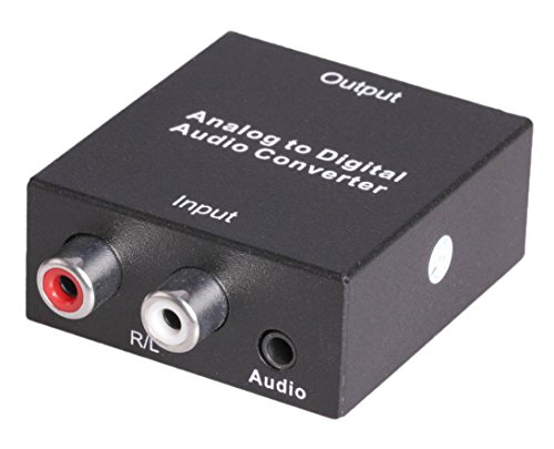 Tbridge Analog ( 3.5mm and R/L ) Audio to Digital ( Coaxial or Toslink ) Audio Converter Adapter