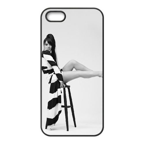 Lily Allen 003 coque iPhone 5 5S cellulaire cas coque de téléphone cas téléphone cellulaire noir couvercle EOKXLLNCD25542
