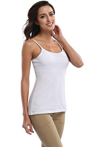 CharmLeaks - Camiseta sin mangas - para mujer blanco y negro