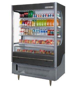 Beverage Air VM18-1-B 51-in Open-Air Merchandiser w/ Night Curtain, 18-cu ft, Black, Each