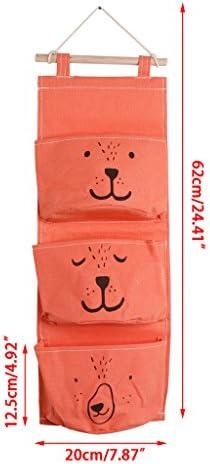 guangzhou Mehrstöckige Leinentasche Wasserdicht 3 Taschen Cartoon Face Aufbewahrungstasche Aufbewahrungstasche Leinen + Holz
