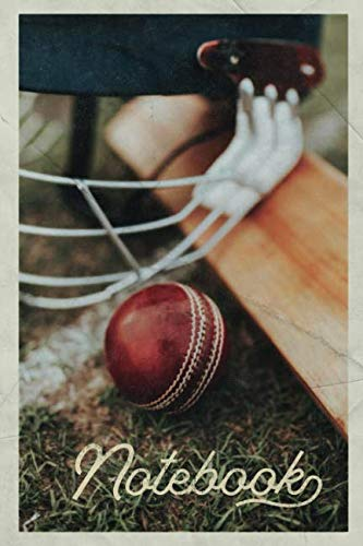 Notebook: Fast Bowling Gorgeous Composition Book Journal Diary for Men, Women, Teen & Kids Vintage Retro Design Bodyline Cricket Match
