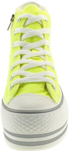 Canvas Zipper top Platform High Green Shoes Sneakers Maxstar OwRx6SIqq