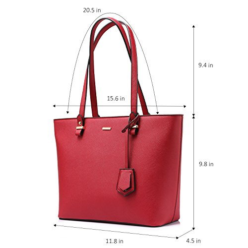 Bag Set for Red 3PCS Purse Satchel Handle Women Bag Shoulder Top Tote Handbags vtnqdxwUgg