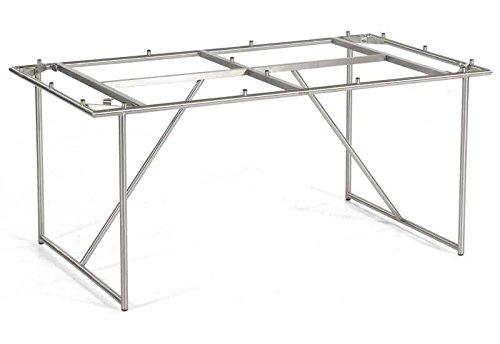 SonnenPartner Rundrohr Edelstahl-Tischgestell
