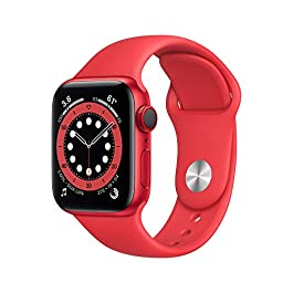 New Apple Watch Series 6 (GPS + Cellular, 40mm) – (Product) RED – Aluminum Case with (Product) RED – Sport Band