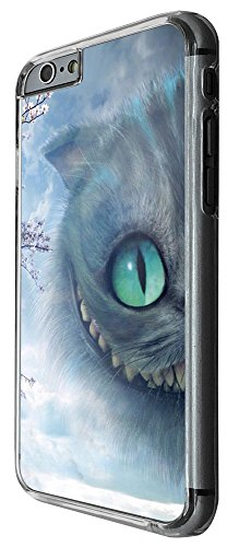 2033 - Cool Cheshire Smiling Grinning Naughty Cat Alice Fairy Tale Design iphone 6 6S 4.7'' Hülle Fashion Trend Case Back Cover Metall und Kunststoff -Clear