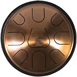 ZENKO EQUINOX - Steel Tongue Drum - 9 tones - Intuitive musical instrument - Deluxe gig bag, support and mallets included