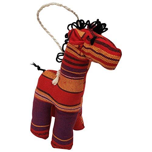 (Giraffe: Authentic Kenyan Hand Made African Kikoi Fabric Stuffed Animal Ornament)