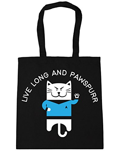 pawspurr 10 HippoWarehouse Shopping Gym Live Beach Black 42cm litres x38cm Bag HippoWarehouse Tote and long xqfnwCI71f