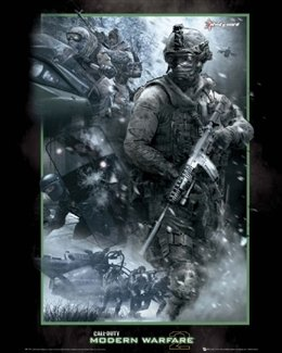 Call Of Duty Modern Warfare 2 Video Game Shooter Poster 16 X 20 Inches