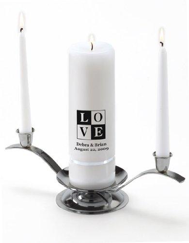 Personalized Wedding Unity Candle - Personalized Unity Candle Set - Love