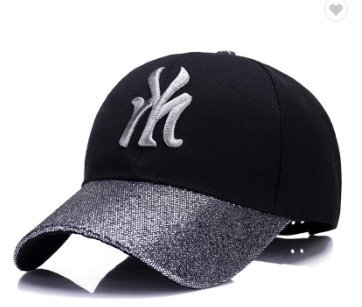 New York City Hat - Adjustable Black and Silver New York City NYC ... 896b138663e