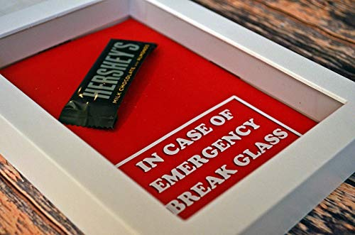 (Valentine's Day Gift   Gift for Valentines   Chocolate Bar - In Case of Emergency Break Glass   Gift for Chocolate Lover   Gag Gifts for Boyfriend, Girlfriend   Gift)