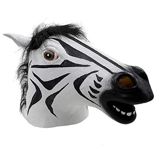 Halloween Masquerade Props Latex Horse Head Mask Head Cover]()