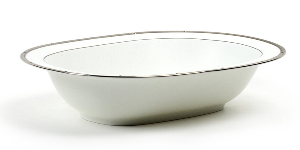 Noritake Rochelle Platinum Oval Vegetable Bowl, 10-3/4-inches 4795-415