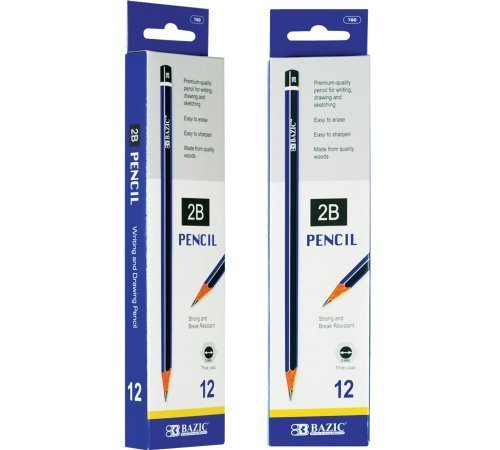 BAZIC #2B Premium Wood Pencil (12/Pack) (Case of 144) by Bazic by Bazic