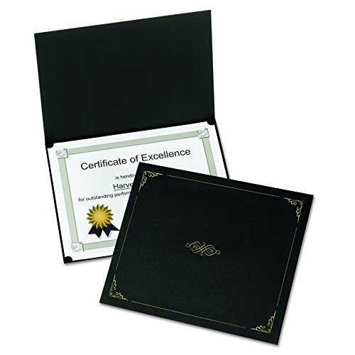 Oxford Certificate Holders, Letter Size, Black, 5 per Pack (Paper Certificate Holder)