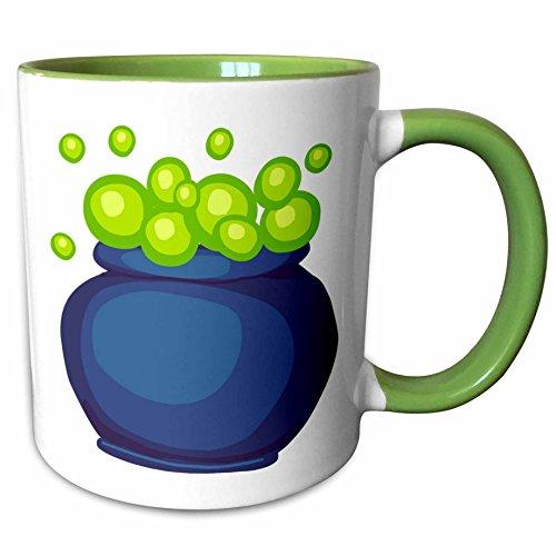 3dRose Blonde Designs Happy and Haunted Halloween - Halloween Bubbling Cauldron - 15oz Two-Tone Green Mug (mug_131041_12) for $<!--$9.99-->