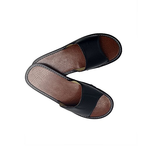 HRFEER Shoes Beach Silent Women Indoor Slippers Summer Women House Black Men Slipper Sandals Linen 80RxwZr0qS