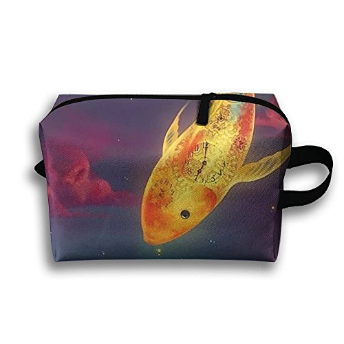 Goldfish And Cats Full Print Fashion Travel Cosmetic Pouch Bag Stylish Cosmetic Bag Large Capacity For Travel Home Toiletry Purse Pouch With Zipper - Cosmetic Surgery Costume