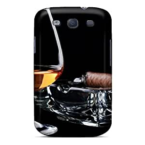 DMhtvrm5772NHTls Brandy Glass And Cigar On Ashtray Fashion Tpu S3 Case Cover For Galaxy