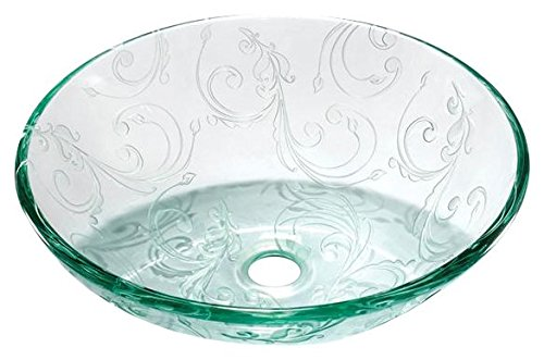 Legion Furniture ZA-208 Glass Sink Bowl, Clear