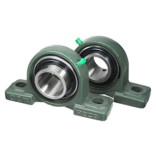 45 Mm Mounted Bearing (uxcell 2pcs Self-Alignment Pillow Block Bearing UCP209 45mm Mounted Bear)