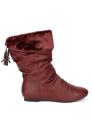Chaussures Bordeaux Montantes CendriyonBottines Vinlan Femme wO8vmnN0