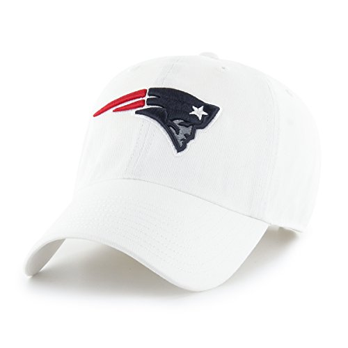 OTS NFL New England Patriots Male Challenger Adjustable Hat, White, One Size