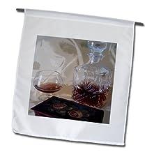 Florene Food and Beverage - Framed Brandy Bottle n Cigar Box - 18 x 27 inch Garden Flag (fl_47846_2)