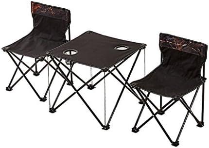 GHM Mesa y sillas de Camping Hogar Respaldo portátil al Aire Libre ...