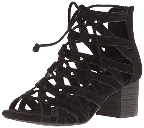 Aerosoles Sandals Suede (Aerosoles Women's Middle Ground Dress Sandal, Black Suede, 6 M US)