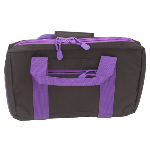 Nc Star Discreet Pistol Case, Black with Purple Trim, Small